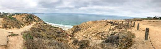 Πανοραμική άποψη του κρατικού πάρκου πεύκων Torrey, Σαν Ντιέγκο, ΗΠΑ στοκ φωτογραφίες με δικαίωμα ελεύθερης χρήσης
