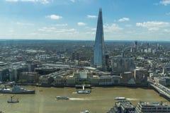 Πανοραμική άποψη του Λονδίνου από τον κήπο ουρανού στην ομιλούσα ταινία Walkie Στοκ εικόνα με δικαίωμα ελεύθερης χρήσης