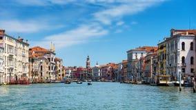 Πανοραμική άποψη του μεγάλου καναλιού στη Βενετία Στοκ φωτογραφίες με δικαίωμα ελεύθερης χρήσης