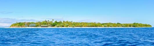 Πανοραμική άποψη του νησιού γενναιοδωρίας στα Φίτζι στοκ εικόνες