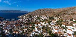 Πανοραμική άποψη του νησιού Hydra, Ελλάδα Ταξίδι στοκ φωτογραφία
