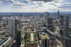 Πανοραμική άποψη του ορίζοντα της Φρανκφούρτης Αμ Μάιν Στοκ Εικόνες