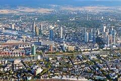 Πανοραμική άποψη του ορίζοντα Frankfurt/$l*Main Στοκ εικόνες με δικαίωμα ελεύθερης χρήσης