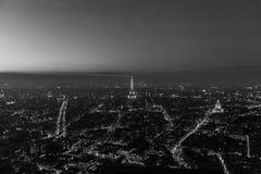Πανοραμική άποψη του Παρισιού γραπτή Στοκ φωτογραφία με δικαίωμα ελεύθερης χρήσης