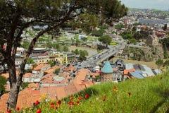 Πανοραμική άποψη του παλαιού Tbilisi, Δημοκρατία της Γεωργίας Στοκ εικόνες με δικαίωμα ελεύθερης χρήσης