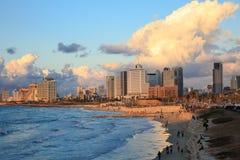 Πανοραμική άποψη του Τελ Αβίβ από Jaffa στοκ εικόνες