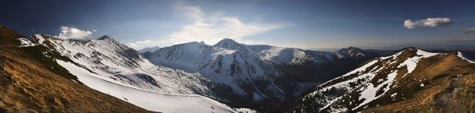 Πανοραμική άποψη του υψηλού δυτικού βουνού tatra Στοκ φωτογραφίες με δικαίωμα ελεύθερης χρήσης