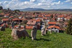 Πανοραμική άποψη του χωριού Belchin Στοκ Εικόνες