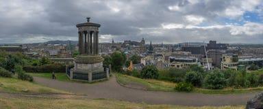 Πανοραμική άποψη του Hill Calton στο Εδιμβούργο στοκ φωτογραφίες με δικαίωμα ελεύθερης χρήσης