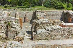 Πανοραμική άποψη των αρχαίων θερμικών λουτρών Diocletianopolis, πόλη Hisarya, Βουλγαρία Στοκ φωτογραφία με δικαίωμα ελεύθερης χρήσης