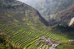 Πανοραμική άποψη των πεζουλιών τομέων ρυζιού Batad στην επαρχία Ifugao, Banaue, Φιλιππίνες στοκ φωτογραφία με δικαίωμα ελεύθερης χρήσης