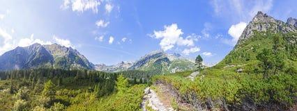 Πανοραμική άποψη των υψηλών βουνών Tatras στη Σλοβακία Στοκ Εικόνα