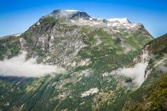 Πανοραμική άποψη φιορδ Geiranger, Νορβηγία Στοκ Εικόνες