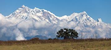 Πανοραμική άποψη Annapurna Himal Στοκ φωτογραφία με δικαίωμα ελεύθερης χρήσης