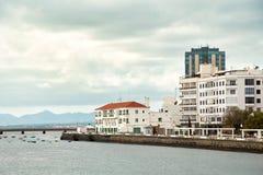 Πανοραμική άποψη Arrecife της πόλης, η πρωτεύουσα του νησιού Lanzarote Στοκ εικόνα με δικαίωμα ελεύθερης χρήσης