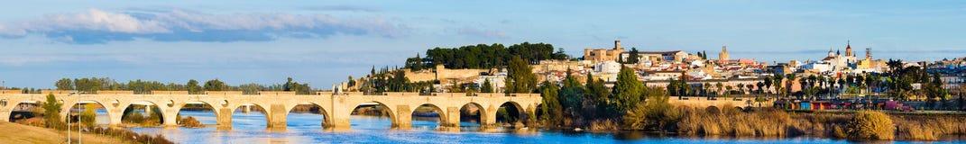 Πανοραμική άποψη Badajoz, Εστρεμαδούρα, Ισπανία Στοκ εικόνα με δικαίωμα ελεύθερης χρήσης