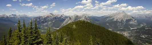 Πανοραμική άποψη Banff Στοκ Φωτογραφία