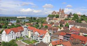 Πανοραμική άποψη Breisach, Γερμανία απόθεμα βίντεο