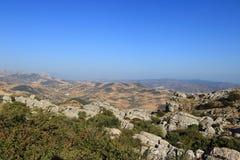 Πανοραμική άποψη EL Torcal, Antequera, Ισπανία Στοκ φωτογραφίες με δικαίωμα ελεύθερης χρήσης