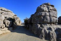 Πανοραμική άποψη EL Torcal, Antequera, Ισπανία Στοκ εικόνα με δικαίωμα ελεύθερης χρήσης