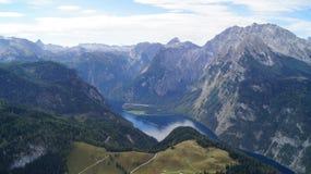 Πανοραμική άποψη Koenigsee στοκ εικόνες με δικαίωμα ελεύθερης χρήσης
