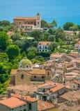 Πανοραμική άποψη Lentiscosa, Σαλέρνο Cilento, Campania, Ιταλία στοκ φωτογραφίες