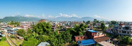 Πανοραμική άποψη Pokhara στο Νεπάλ Στοκ εικόνα με δικαίωμα ελεύθερης χρήσης