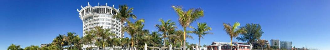 Πανοραμική άποψη ST Pete Beach, Αγία Πετρούπολη, Φλώριδα - ΗΠΑ στοκ φωτογραφία με δικαίωμα ελεύθερης χρήσης