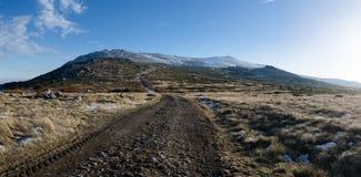 Πανοραμική άποψη Vitosha του βουνού, Βουλγαρία Στοκ Φωτογραφία
