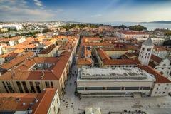 Πανοραμική άποψη Zadar στοκ εικόνες