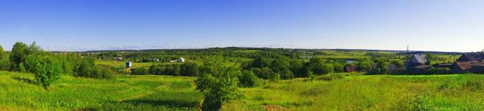 πανοραμική αγροτική όψη Στοκ Εικόνες