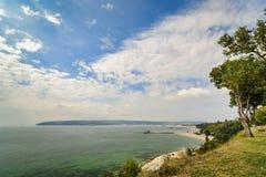 Πανοραμική ακτή της Βάρνας άποψης στοκ φωτογραφίες με δικαίωμα ελεύθερης χρήσης