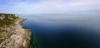 Πανοραμική εναέρια άποψη της ακτής στοκ εικόνες με δικαίωμα ελεύθερης χρήσης
