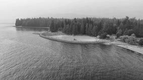 Πανοραμική εναέρια άποψη του πάρκου του Stanley με τη λίμνη στο Βανκούβερ, ασβέστιο Στοκ φωτογραφίες με δικαίωμα ελεύθερης χρήσης