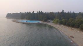 Πανοραμική εναέρια άποψη του πάρκου του Stanley με τη λίμνη στο Βανκούβερ, ασβέστιο Στοκ Φωτογραφίες
