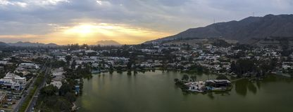 Πανοραμική εναέρια άποψη Las Lagunas στο Λα Planicie στοκ φωτογραφίες με δικαίωμα ελεύθερης χρήσης