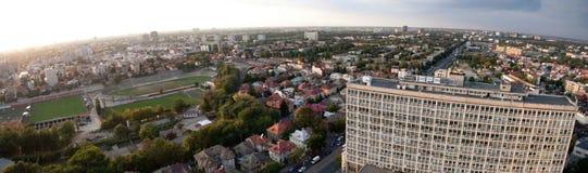 Πανοραμική εναέρια όψη του Βουκουρεστι'ου Στοκ φωτογραφία με δικαίωμα ελεύθερης χρήσης