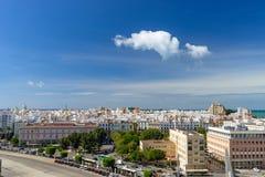 Πανοραμική θέα πέρα από την πόλη του Καντίζ, Ανδαλουσία, Ισπανία στοκ φωτογραφία με δικαίωμα ελεύθερης χρήσης
