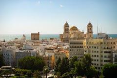 Πανοραμική θέα πέρα από την πόλη του Καντίζ, Ανδαλουσία, Ισπανία στοκ εικόνες