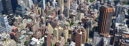 Πανοραμική θέα πόλεων της Νέας Υόρκης στοκ εικόνα με δικαίωμα ελεύθερης χρήσης
