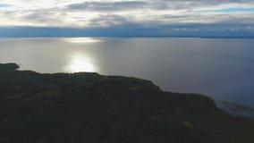 Πανοραμική θέα της λίμνης απόθεμα βίντεο