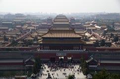 Πανοραμική θέα της απαγορευμένης πόλης, Πεκίνο Κίνα στοκ φωτογραφίες