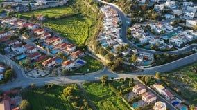 Πανοραμική θέα του Πισσουρίου, ένα χωριό μεταξύ της Λεμεσού και της Πάφος Περιοχή της Λεμεσού, Κύπρος απόθεμα βίντεο