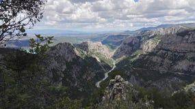 Πανοραμική θέα του φαραγγιού Verdon το καλοκαίρι, Γαλλία, Ευρώπη στοκ φωτογραφίες με δικαίωμα ελεύθερης χρήσης