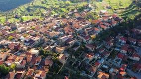 Πανοραμική θέα του χωριού Lofou Περιοχή της Λεμεσού, Κύπρος απόθεμα βίντεο