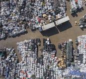 Πανοραμική θέα υλικών οδόστρωσης άποψης Υλικά οδόστρωσης για την αποθήκευση αποβλήτων στοκ φωτογραφίες με δικαίωμα ελεύθερης χρήσης