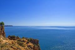Πανοραμική Μεσόγειος άποψης από το πάρκο παραλιών antalya Τουρκία Στοκ Εικόνες