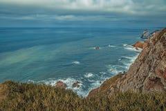 Πανοραμική παράκτια άποψη σε Cabo DA Roca Στοκ φωτογραφία με δικαίωμα ελεύθερης χρήσης