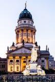 Πανοραμική πλατεία Gendarmenmarkt με το γερμανικό καθεδρικό ναό στοκ φωτογραφίες με δικαίωμα ελεύθερης χρήσης