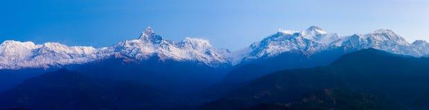Πανοραμική σειρά Annapurna Ιμαλάια τοπίων Στοκ εικόνες με δικαίωμα ελεύθερης χρήσης